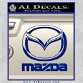 Mazda Decal Sticker Full Blue Vinyl 120x120