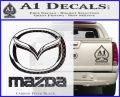 Mazda Decal Sticker Full Carbon FIber Black Vinyl 120x97