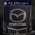 Mazda Decal Sticker Full Carbon FIber Chrome Vinyl 120x120