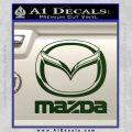 Mazda Decal Sticker Full Dark Green Vinyl 120x120
