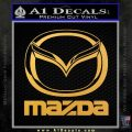 Mazda Decal Sticker Full Gold Vinyl 120x120