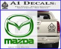 Mazda Decal Sticker Full Green Vinyl Logo 120x97