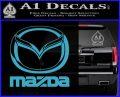 Mazda Decal Sticker Full Light Blue Vinyl 120x97