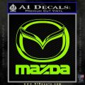 Mazda Decal Sticker Full Lime Green Vinyl 120x120