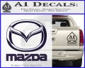 Mazda Decal Sticker Full PurpleEmblem Logo 120x97