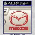 Mazda Decal Sticker Full Red 120x120