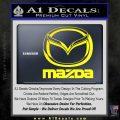 Mazda Decal Sticker Full Yellow Laptop 120x120