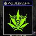 Medical Marijuana Pot Weed D1 Decal Sticker Lime Green Vinyl 120x120