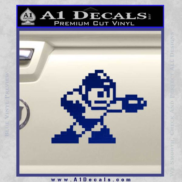 Mega Man 8 Bit Nintendo D2 Decal Sticker Blue Vinyl