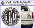 Mercedes Benz C1 Decal Sticker Carbon FIber Black Vinyl 120x97