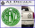 Mercedes Benz C1 Decal Sticker Green Vinyl Logo 120x97