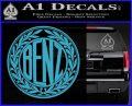 Mercedes Benz C1 Decal Sticker Light Blue Vinyl 120x97