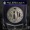 Mercedes Benz C1 Decal Sticker Metallic Silver Emblem 120x120