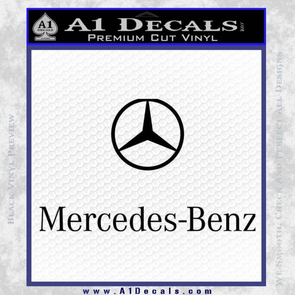 Mercedes benz logo stacked decal sticker a1 decals for A mercedes benz product sticker