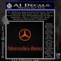 Mercedes Benz Logo Stacked Decal Sticker Orange Emblem 120x120