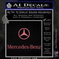 Mercedes Benz Logo Stacked Decal Sticker Pink Emblem 120x120