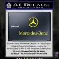 Mercedes Benz Logo Stacked Decal Sticker Yellow Laptop 120x120