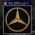 Mercedes Logo CR Decal Sticker Gold Vinyl 120x120