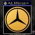 Mercedes Logo D2 Decal Sticker Gold Vinyl 120x120