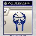Mf Doom Mask D1 Decal Sticker Blue Vinyl 120x120