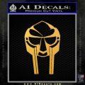 Mf Doom Mask D1 Decal Sticker Gold Vinyl 120x120