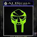 Mf Doom Mask D1 Decal Sticker Lime Green Vinyl 120x120