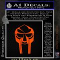 Mf Doom Mask D1 Decal Sticker Orange Emblem 120x120