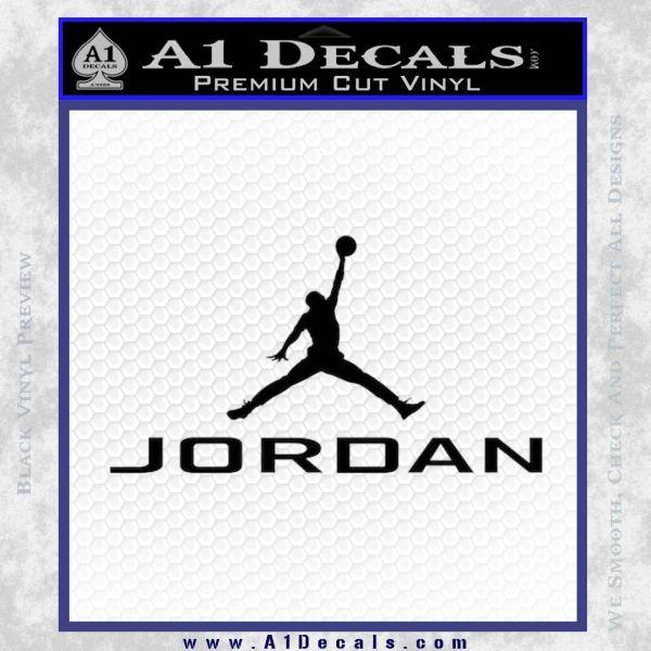Michael jordan jumpman full decal sticker black vinyl