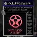 Molon Labe Ammo Star Skull Decal Sticker Pink Emblem 120x120