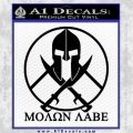 Molon Labe C1 Decal Sticker Black Vinyl 120x120