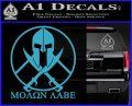 Molon Labe C1 Decal Sticker Light Blue Vinyl 120x97