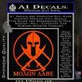 Molon Labe C1 Decal Sticker Orange Emblem 120x120