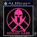 Molon Labe C1 Decal Sticker Pink Hot Vinyl 120x120