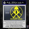 Molon Labe C1 Decal Sticker Yellow Laptop 120x120