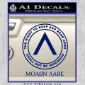 Molon Labe CR Decal Sticker Blue Vinyl 120x120