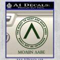 Molon Labe CR Decal Sticker Dark Green Vinyl 120x120