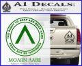 Molon Labe CR Decal Sticker Green Vinyl Logo 120x97