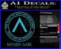 Molon Labe CR Decal Sticker Light Blue Vinyl 120x97