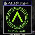 Molon Labe CR Decal Sticker Lime Green Vinyl 120x120