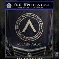 Molon Labe CR Decal Sticker Metallic Silver Emblem 120x120
