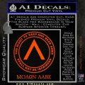 Molon Labe CR Decal Sticker Orange Emblem 120x120
