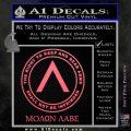 Molon Labe CR Decal Sticker Pink Emblem 120x120