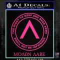 Molon Labe CR Decal Sticker Pink Hot Vinyl 120x120