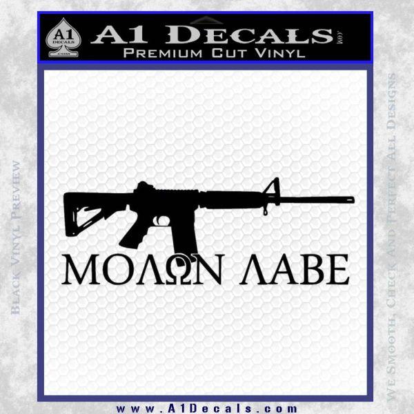 Molon Labe D2 Decal Sticker Black Vinyl