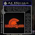 Molon Labe D4 Decal Sticker Orange Emblem 120x120