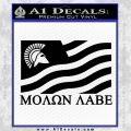 Molon Labe Flag Decal Sticker Black Vinyl 120x120