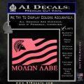 Molon Labe Flag Decal Sticker Pink Emblem 120x120