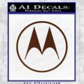 Motorola M Decal Sticker BROWN Vinyl 120x120