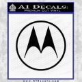 Motorola M Decal Sticker Black Vinyl 120x120