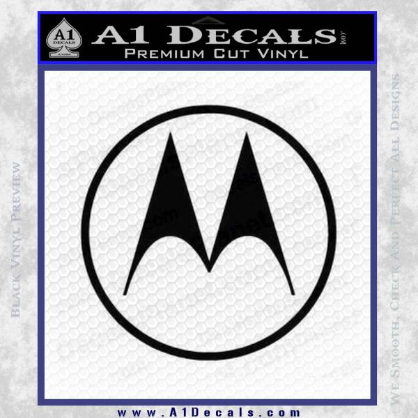 Motorola M Decal Sticker Black Vinyl